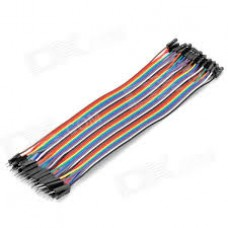 1 pin Male To female jumper wire 40x1 pcs pack